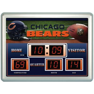 null Chicago Bears 14 in. x 19 in. Scoreboard Clock with Temperature