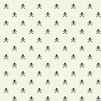 56 sq. ft. Brothers and Sisters V Skull and Corssbones Wallpaper