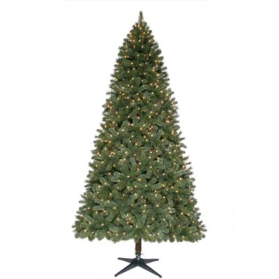 9 ft. Wesley Mixed Spruce Quick-Set Full Artificial Christmas Tree with 850 Clear Lights Product Photo
