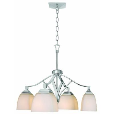 Home Decorators Collection Sydney 4-Light Polished Nickel Downlight Chandelier