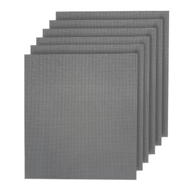 Natural Shimmer Woven Textilene Reversible Square Placemats (Set of 6)