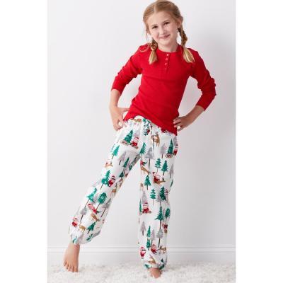 Family Flannel Teen's Santa 2-Piece Thermal Pajama Set