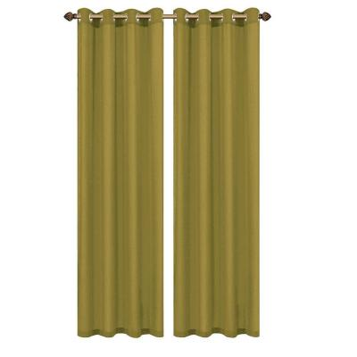Primavera Crushed Microfiber Sage Grommet Extra Wide Curtain Panel, 60 in.