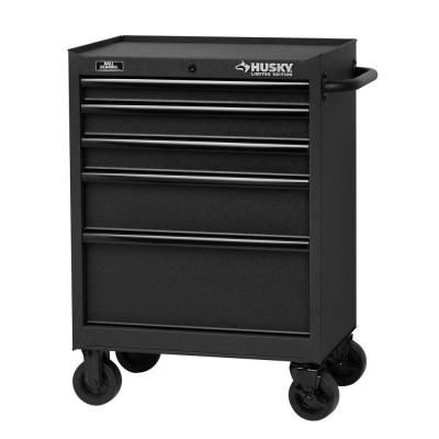 27 in. 5-Drawer Tool Cabinet, Textured Black