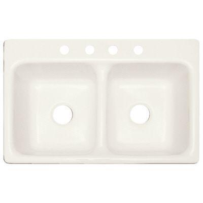 Kennesaw Biscuit 4 Faucet Hole 3.2 Cast Acrylic Self Rim Classic