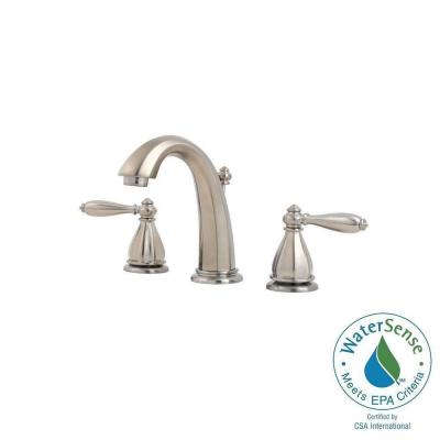 Portola 8 in. Widespread 2-Handle High-Arc Bathroom Faucet in Brushed Nickel Product Photo