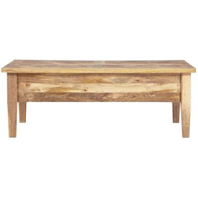 Parquetry 4.25 ft. L Rectangular Wood Coffee Table in Natural Product Photo
