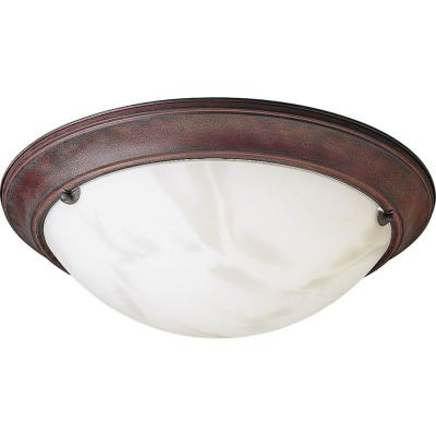 Progress Lighting Eclipse Collection 3-Light Cobblestone Flushmount-DISCONTINUED