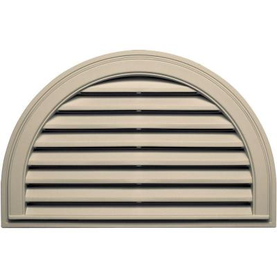 22 in. x 34 in. Half Round Gable Vent in Almond Product Photo