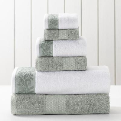 6-Piece Towel Set with Filgree jacquard Border