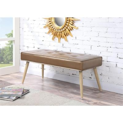 Amity Fabric Bench in Sizzle Copper