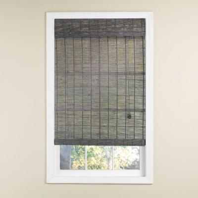 Gray Wash Norwood Bamboo Rollup Blind - 72 in. W x