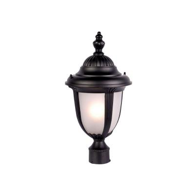 Acclaim Lighting Monterey Collection Post-Mount 1-Light Outdoor Matte Black Light Fixture