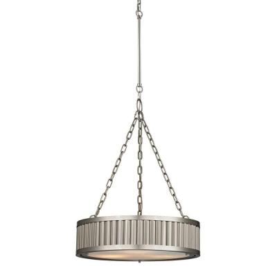 Munsey Park Collection 3-Light Brushed Nickel LED Pendant