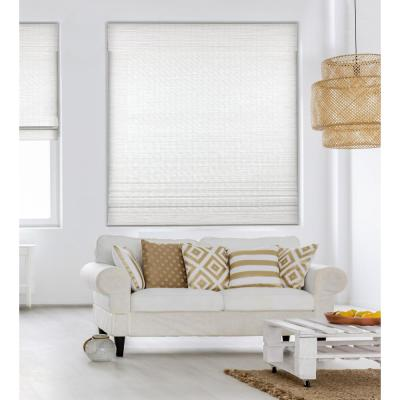 Seaside White Cordless Light-Filtering Bamboo Woven Roman Shade