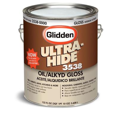 Glidden porch and floor 1 gal steel gray gloss interior for What are alkyd paints
