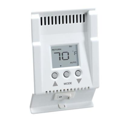 null Smart-Base 240-Volt 5-1-1 Programmable 4 Events/Day Baseboard Thermostat in White