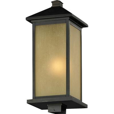 Lawrence 1-Light Outdoor Oil-Rubbed Bronze Incandescent Post Light