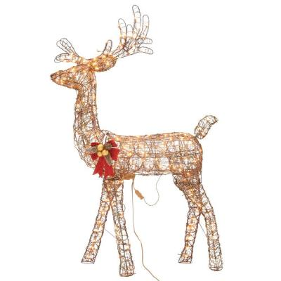 Home Accents Holiday 5 ft. Pre-Lit Animated Grapevine Standing Deer
