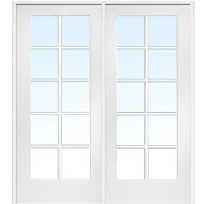 Classic Clear Glass 10 Lite Composite Double Interior