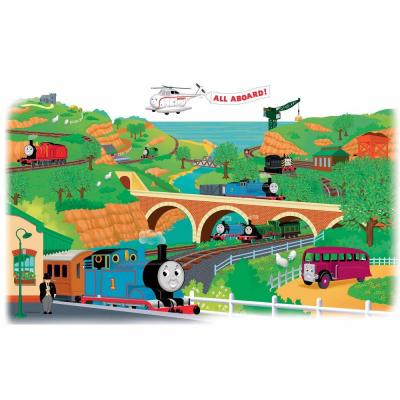 RoomMates 5 in. x 19 in. Thomas and Friends Peel and Stick Giant Wall Decals(2-Piece)