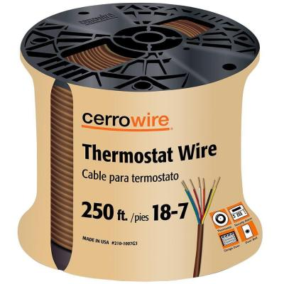 250 ft. 18/7 Brown Solid Thermostat Wire