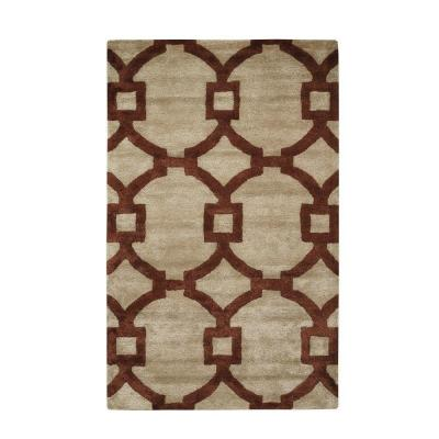 Sawyer Beige/Red 3 ft. 6 in. x 5 ft. 6 in.