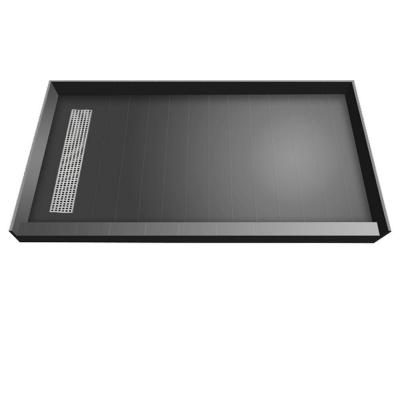 36 in. x 72 in. Single Threshold Shower Base with Left Drain and Tileable Trench Grate Product Photo