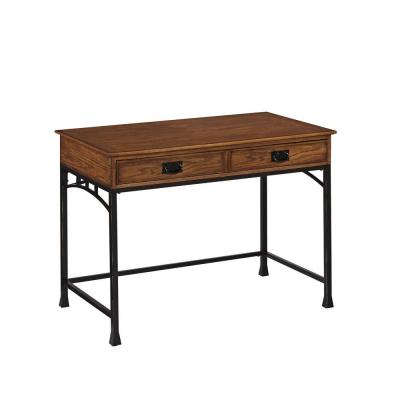 Modern Craftsman Student Desk in Distressed Oak Product Photo