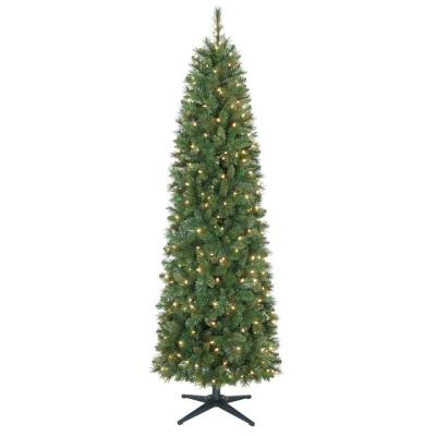 7 ft. Wesley Mixed Spruce Pencil Artificial Christmas Tree with 300