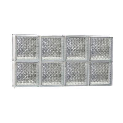 Frameless Diamond Pattern Non-Vented Glass Block Window