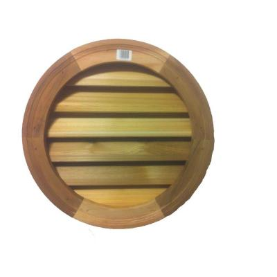 18 in. Wood Round Louver Vent Product Photo