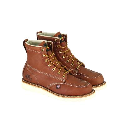 American Heritage Men's Tobacco Leather 6 in. Safety Toe Maxwear Wedge Work Boots