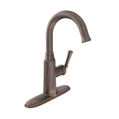 Portsmouth 1-Handle Pull-Down Bar Faucet in Oil Rubbed Bronze