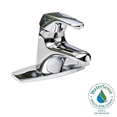 American Standard Seva Single Hole Single Handle Low-Arc Bathroom Faucet in Polished Chrome with Speed Connect Drain