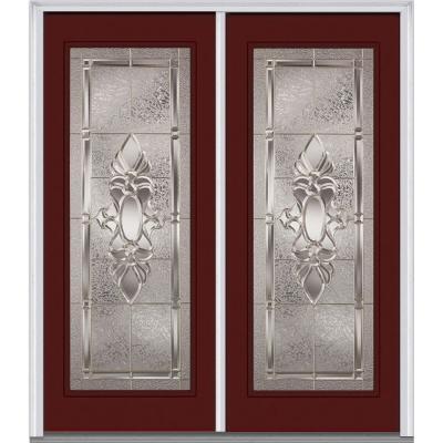 Heirloom Master Deco Glass Full Lite Painted Majestic Steel Double Prehung Front Door