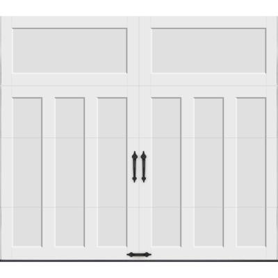 Clopay Coachman Collection 8 ft. x 7 ft. 18.4 R-Value Intellicore Insulated Solid White Garage Door