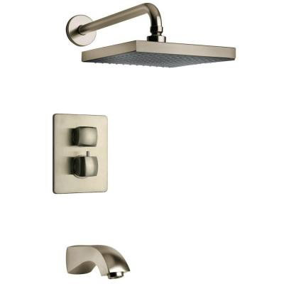 latoscana lady 2 handle tub and shower faucet in brushed nickel