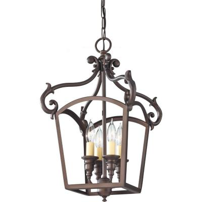 Feiss Luminary 4-Light Oil Rubbed Bronze Hall Chandelier