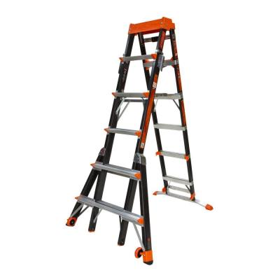 Little Giant Ladder Systems Select Step 10 ft. Fiberglass Multi-Use Ladder 300 lb. Load Capacity (Type 1A Duty Rating) 15131-001