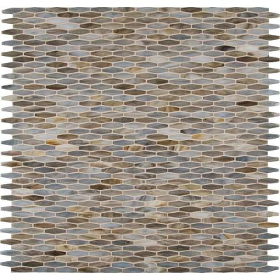 Mochachino 12 in. x 12 in. x 3 mm Glass Mesh-Mounted Mosaic Wall Tile Product Photo