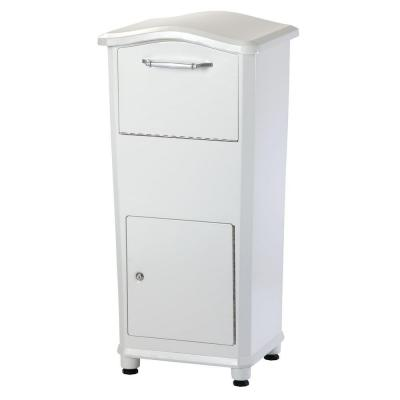 Architectural Mailboxes Elephantrunk Parcel Drop Box in White