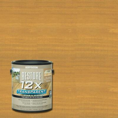 1 Gallon 12X Transparent Golden Pine Stain and Sealant