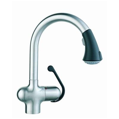 GROHE Ladylux Cafe Single-Handle Pull-Out Sprayer Kitchen Faucet in Stainless Steel