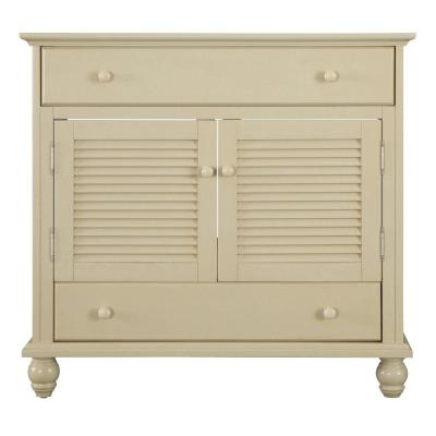 Home Decorators Collection Cottage 36 in. W x 21-5/8 in. D x 34 in. H Vanity Cabinet Only in Antique White