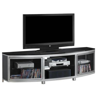 Gotham 72 in. Media Console with Electric Fireplace - Silver and