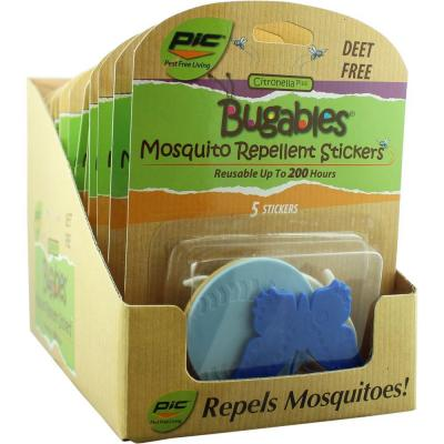 PIC Bugables Repellent Stickers (Case of 12)
