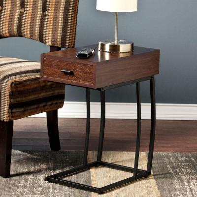 New Haven USB Port Side Table