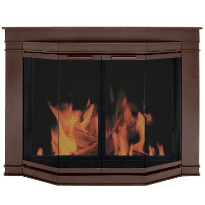 Pleasant Hearth Glacier Bay Large Glass Fireplace Doors