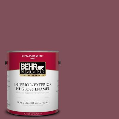 Home Decorators Collection 1-gal. #HDC-CL-02 Fine Burgundy Hi-Gloss Enamel